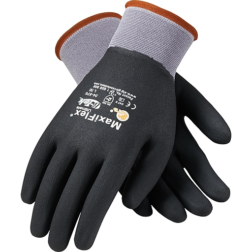 G-Tek® Coated Work Gloves; MaxiFlex® Ultimate™ Seamless Nylon Knit Liner W/Nitrile Coating, M, 12/Pr