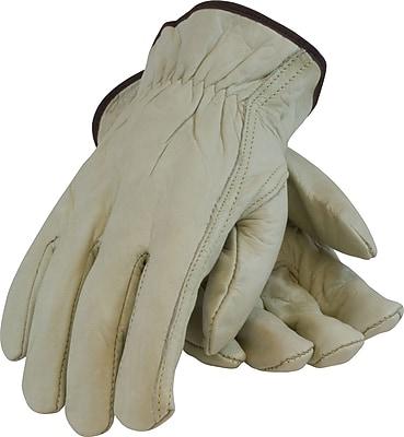 PIP Driver's Gloves, Top Grain Leather, Medium, Tan, 1 Pair