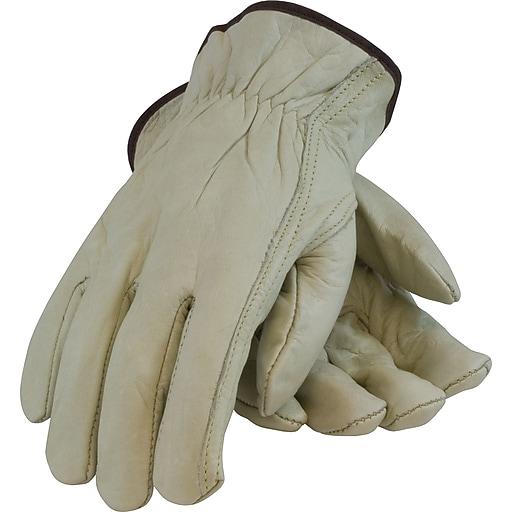 PairsoteCartonive Industry PairsoduCartons Driver's Gloves, Top Grain Leather, Large, Tan, 1 Pair