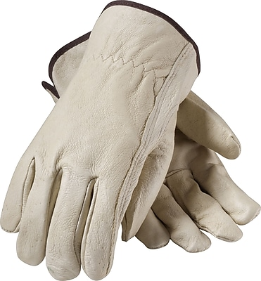 PIP Driver's Gloves, Top Grain Pigskin, Extra-Large, Cream Color, 1 Pair