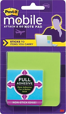 Post-it® Mobile Attach and Go Full Adhesive Notes, 2