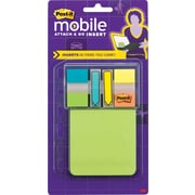 Post-it® Mobile Attach and Go Refillable Card Full Adhesive Notes and Flag Dispenser