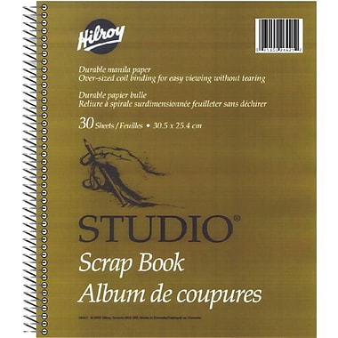Hilroy Studio Scrapbook with Oversized Coil Binding, 12