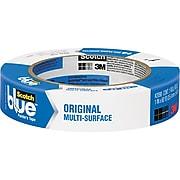"Scotch® Blue Painter's Masking Tape, Blue, 3"" Core, 1"" x 60yds. (2090)"