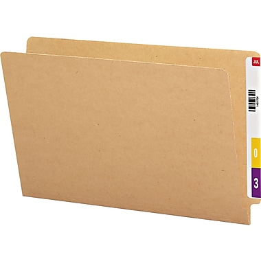 Smead Kraft End Tab Folders, Straight Cut, LEGAL-size Holds 8 1/2