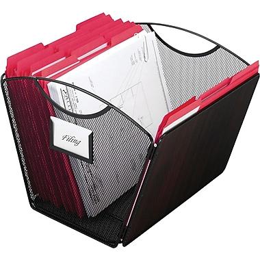 Safco Onyx Mesh Desktop Tub File, Letter Size, Black