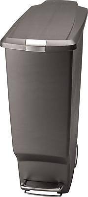 simplehuman® Slim Step Trash Can, Grey, 10.5 Gallon