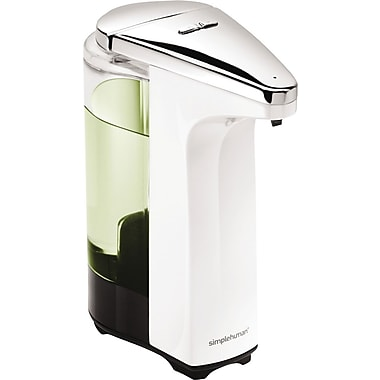 simplehuman Compact Sensor Pump Soap Dispenser, White