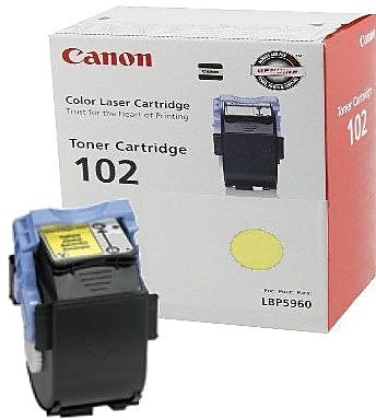 Canon CRG-102Y Yellow Toner Cartridge (9642A006AA), High Yield
