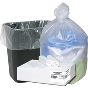 Webster Ultra Plus® Trash Bags, Clear, 7-10 Gallon, 1,000 Bags/Box