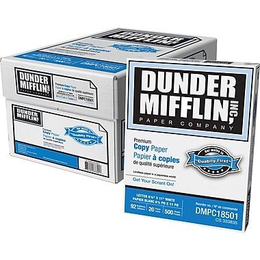 Dunder Mifflin – Papier à copies , 20 lb, 8 1/2 po x 11 po, bte