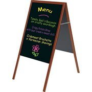 """MasterVision® 21""""W x 33""""H Magnetic Wet Erase Board, Cherry Frame"""