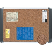 "MasterVision® 24""(W) x 18""(H) Earth Cork Board, Silver Frame, Each"