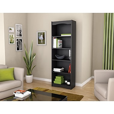 Sonax Hawthorn Collection 72' Tall Bookcase, Midnight Black