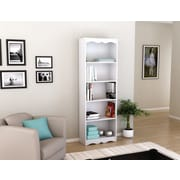 "Sonax® Hawthorn 72"" Wood Bookcase, Frost White"