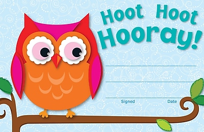 Carson-Dellosa Hoot Hoot Hooray!, Recognition Award