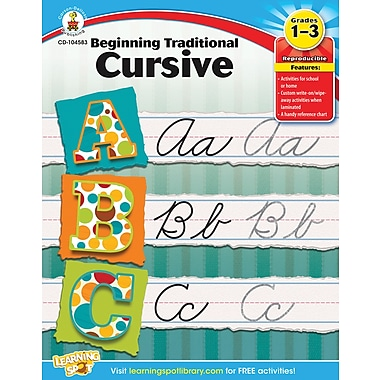 Carson-Dellosa Beginning Traditional Cursive Workbook, Grade 1-3 (104583)