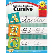 Carson-Dellosa Beginning Traditional Cursive, Workbook