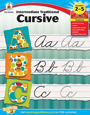 Carson-Dellosa Intermediate Traditional Cursive, Workbook