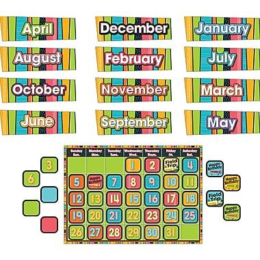 Carson-Dellosa Stylin' Stripes Calendar Bulletin Board Set