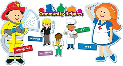 Carson-Dellosa Community Helpers Bulletin Board Set
