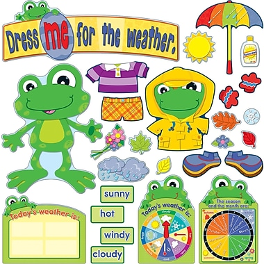 Carson-Dellosa FUNky Frogs Weather Bulletin Board Set (110208)