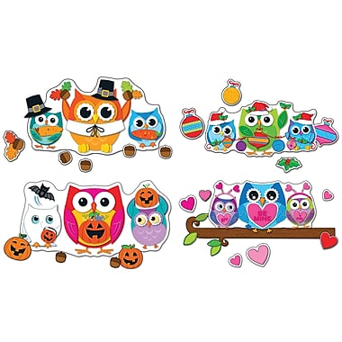 Carson-Dellosa Celebrate with Colorful Owls Bulletin Board Set (110224)