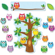 Carson-Dellosa 110226 Colorful Owls Behavior Bulletin Board Set