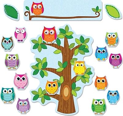 Carson-Dellosa Colorful Owls Behavior, Bulletin Board Set