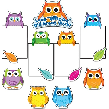 Carson-Dellosa Colorful Owls Good Work Bulletin Board Set (110228)