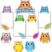 Carson-Dellosa 110228 Colorful Owls Good Work Bulletin Board Set