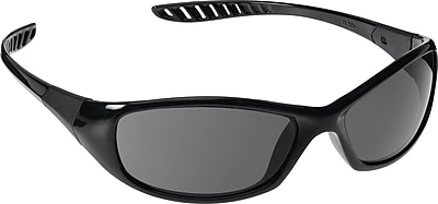 Jackson Safety V40 HellRaiser Safety Glasses, Black Frame, Indoor/Outdoor Lens (25716)