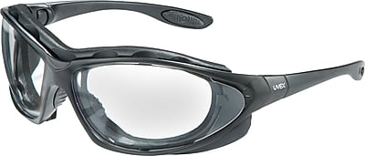 Uvex Seismic Sealed Eyewear, Anti-fog, Clear Lens, Black Frame