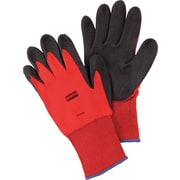 North® Flex Red™ Coated Gloves, PVC, Knit-Wrist Cuff, Medium, Red/Black