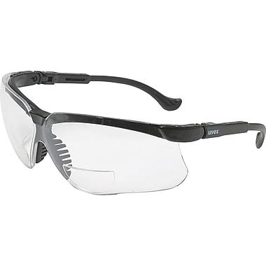 Uvex Genesis Reading Magnifier Glasses, +3.0, Black Frame, Clear Ultra-Dura Hardcoat Lens