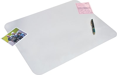Artistic™ KrystalView™ Desk Pad with Microban®, Non-Glare Satin, 19