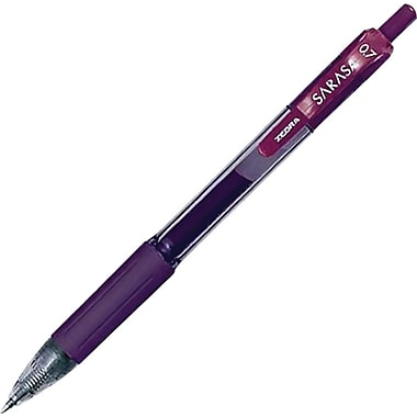 Zebra Sarasa Retractable Gel Pen, Medium Point, Port Ink