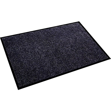 Floortex™ – Paillasson Eco Plush 36 po x 48 po, gris charbon