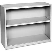 "Lorell Fortress Series 2-Shelf 30"" Bookcase, Light Gray (LLR41280)"