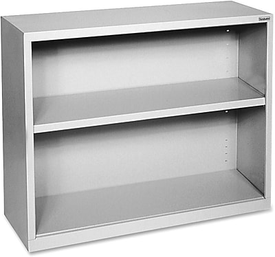 Hirsh Steel Bookcase, Light Gray, 2-Shelf, 30