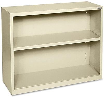 Hirsh Steel Bookcase, Putty, 2-Shelf, 30