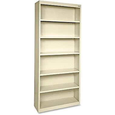Hirsh Steel Bookcase, Putty, 6-Shelf, 82