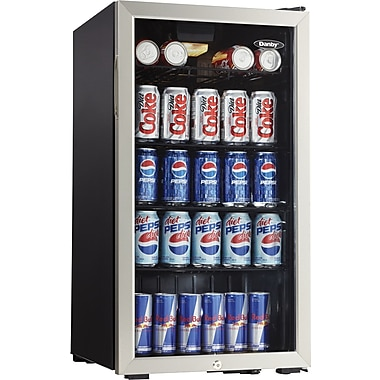 Danby® 3.3 CU. FT. Beverage Center, Black And Stainless Steel Finish