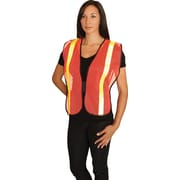 PIP Hi-Vis Safety Vest, Non-ANSI, Hook & Loop Closure, Yellow, One Size