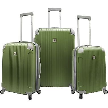 Beverly Hills Country Club BH6800 Malibu 3-Piece Hardside Spinner Luggage Set, Green