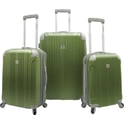 Beverly Hills Country Club BH6800 Malibu 3-Piece Hardside Spinner Luggage Set, Green