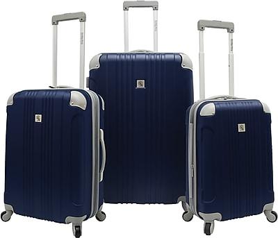Beverly Hills Country Club BH6800 Malibu 3-Piece Hardside Spinner Luggage Set, Navy