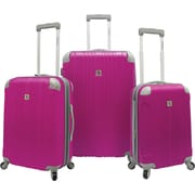 Beverly Hills Country Club BH6800 Malibu 3-Piece Hardside Spinner Luggage Set, Magenta