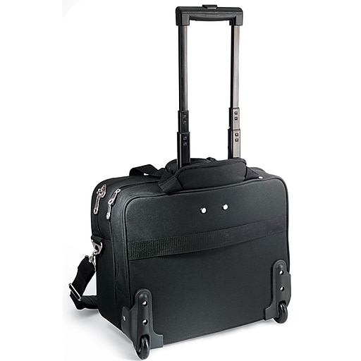"GP® 80783 Embassy Plus Rolling Briefcase For 16"" Laptops, Black"