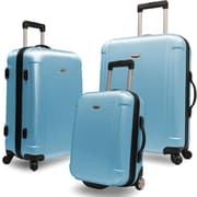 Traveler's Choice® TC2400 FREEDOM 3-Piece Hard-Shell Spin/Rolling Travel Luggage Set, Arctic Blue